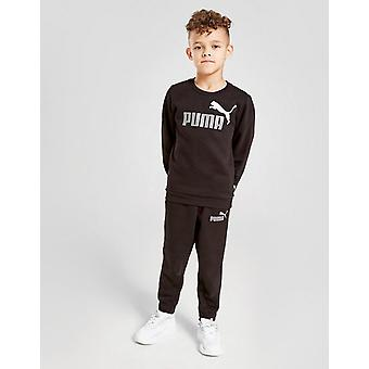 New Puma Kids' Core Crew Tracksuit Black