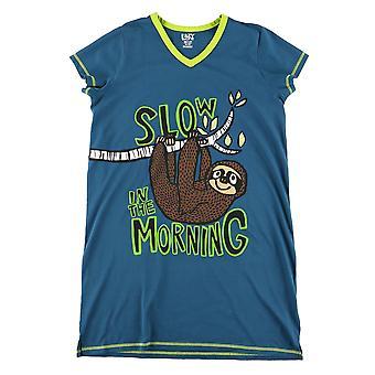 Lazy One Sloth VNS397 Women's Blue Nightshirt
