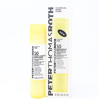 Peter Thomas Roth 50 Anti- Aging Defense Clinical Skin Care Sunscreen Stick 0.5oz  New