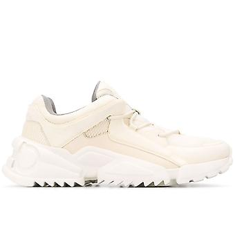 Salvatore Ferragamo Ezcr037002 Heren's White Leather Sneakers