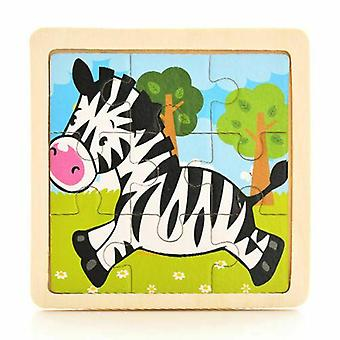 17 Styles Development Learning Color Shape, 3d Wooden Puzzle Cartoon