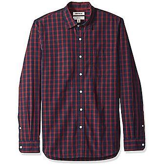 Merk - Goodthreads Men's Standard-Fit Long-Sleeve Plaid Poplin Shirt,...