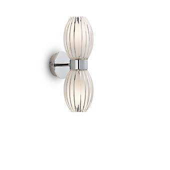 Herstal - 2 Light Up & Down Wall Light Chrome, Clear, G9