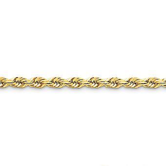 14k צהוב זהב מלא מנצנץ חיתוך לובסטר טופר 5.5 mm D גזור חבל לובסטר שרשרת אבזם הקרסול 9 לובסטר אינטש טופר J