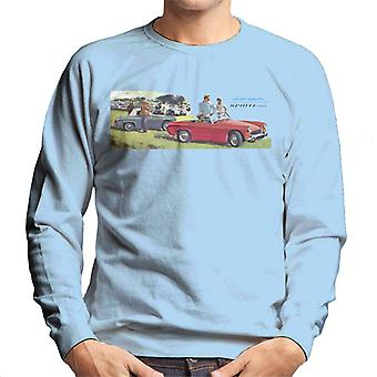 Austin Healey Sprite Mk II Race Day British Motor Heritage Men's Sweatshirt