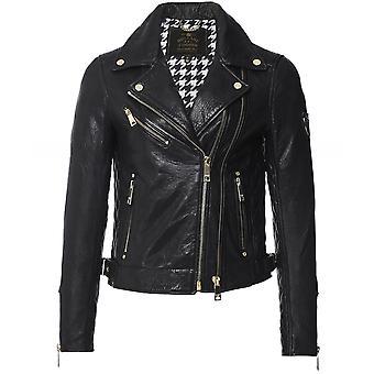 Holland Cooper Leather Biker Jacket