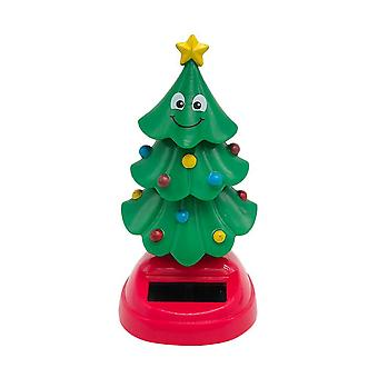 Dancing Toy Solar Powered Swinging Christmas Tree Shaking Head Dolls Car