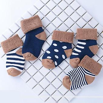4pair/lot 0-1-3 ani Baby Socks-Nou-născut Baby Foot Sock