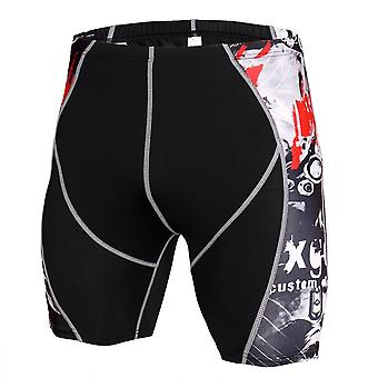 Mens Gym Wear Fitness Treenis shortsit, Miehet Kuiva istuvuus Running Compression Tiukka