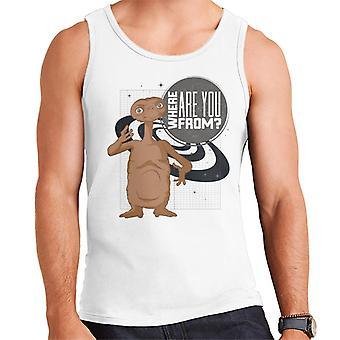 E.t. Where Are You From Men's Vest