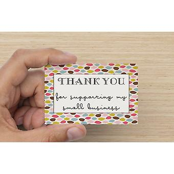 Thank You For Supporting My Small Business Leaf Design Card