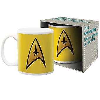 Star Trek Captain Logo Ceramic Mug