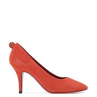 Salvatore Ferragamo 726403 Women's Red Suede Pumps