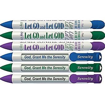 36027, Greeting Pen- Serenity Rotating Message 6 Pen Set 36027