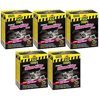 Sparset: 5 x COMPO Cumarax® mice bait paste, 200 g