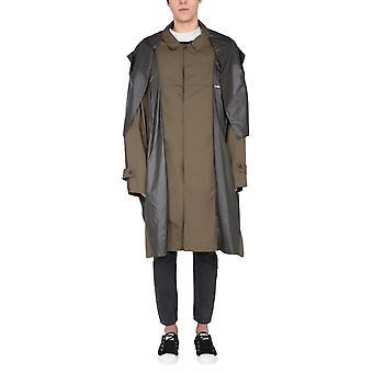 Emboscada Bmee002f20fab0016363 Men's Green Polyester Trench Coat