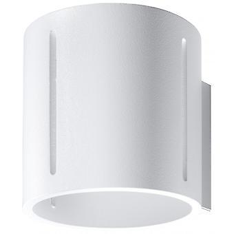 Inez hvid aluminium væg lys 1 pære