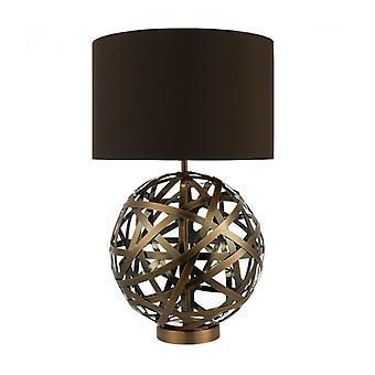 Reise Tischlampe Antik Kupfer und 1 Glühbirne