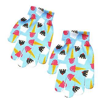 الأطفال, قفازات الشتاء للأطفال, الحيوان طباعة تمتد القفازات متماسكة, إصبع كامل