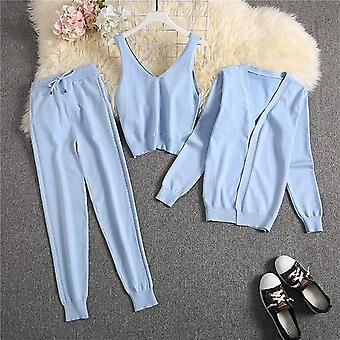 Spring Candy Color Knitted Cardigans Fashion Suit Women Seasonal Stylish