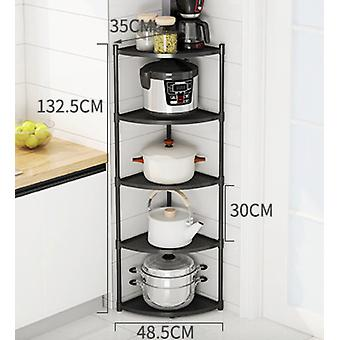 Stainless Steel Kitchen Rack Triangular Wall Corner Multi-layer Corner Pot Rack Household Storage Rack Pot Rack