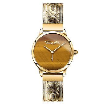 Thomas Sabo Watches Thomas Sabo Garden Spirit Tigers Eye Gold Womens Watch WA0364-264-205