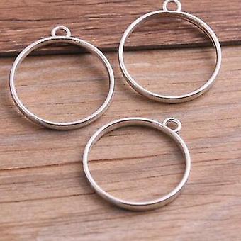Zliatiny šperky kruhové Charm duté lepidlo prázdne prívesok zásobníka rámu