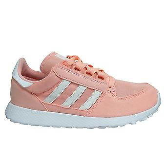 Adidas Originals Forest Grove Kids Clear Orange Lace Up Youths Trainers F34329
