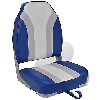 Foldable boat seat with high backrest