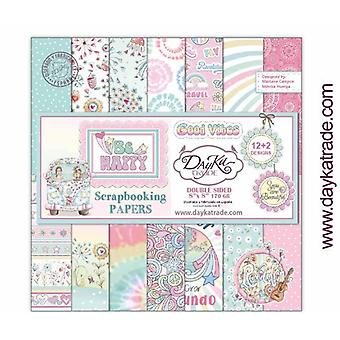 DayKa Trade Be Happy 8x8 Inch Paper Pack
