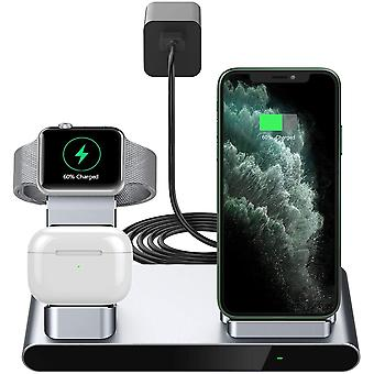 Yootech 3 in 1 Fast Wireless Charger, Innovative Metal Wireless Charging Stand