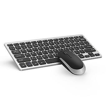 Klawiatura i zestaw myszy ultra slim, galaretka grzebień kut019 2.4g kompaktowa klawiatura bezprzewodowa mysz combo qwer