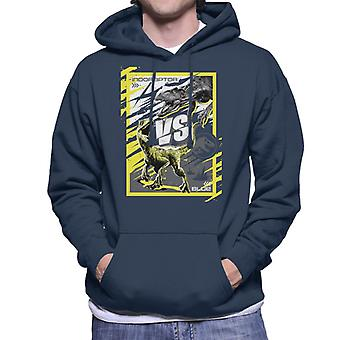Jurassic World Indoraptor Vs Blue Men's Hooded Sweatshirt