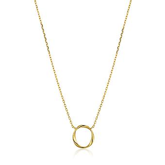 Ania Haie Sterling Silver Shiny Gold Plated Swirl Necklace N015-02G