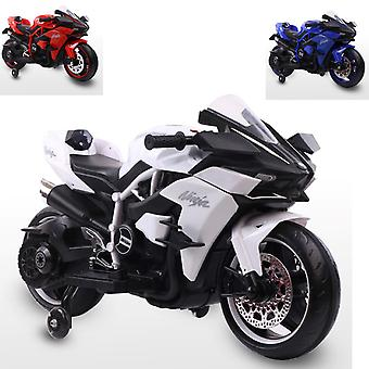 Moni Kids Electric Motorcycle Ninja Duo Music Function MP3 Output LED Support Wielen