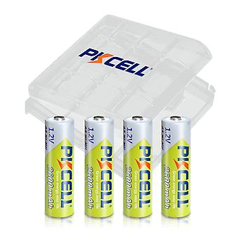 Aa 2600mah, 1.2v Ni-mh Rechargeable Batteries And Case