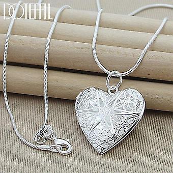 Collier sterling de pendentif d'argent, bijoux de collier de charme de femme de chaîne de serpent