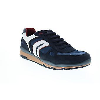 Geox U Sandford Mens Blue Suede Euro Sneakers Chaussures