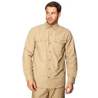 New Peter Storm Men's Long Sleeve Travel Shirt Beige