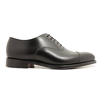 Loake Aldwych F-Width Black Calf Leather Mens Oxford Shoes