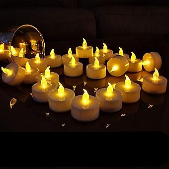 Flameless Led Tealight Battery Operated Warm Flameless Pillar Candle
