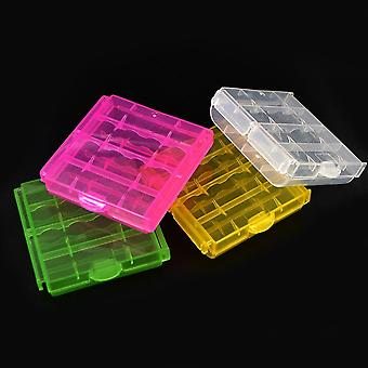 Colorful Plastic Case Holder Storage Box Cover For 10440 14500 Aa Aaa Battery