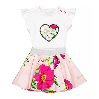 Guess baby girls white skirt set a1gg10k6yw1 twht