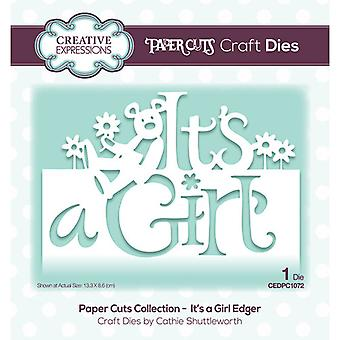 Creative Expressions Paper Cuts Collection Cutting Dies - It's a Girl Edger
