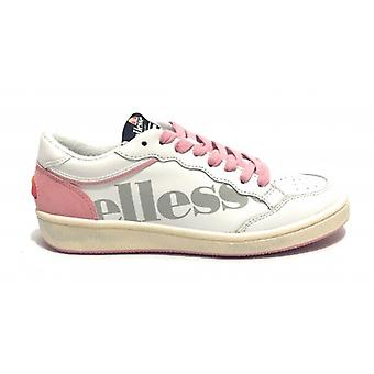 Shoe Donna Ellesse Sneaker Mod. Perugia Leather/ White Suede/ Rosa Ds19ls01
