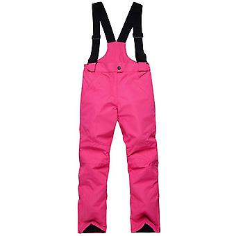 Children Overalls Solid Color Ski Pants
