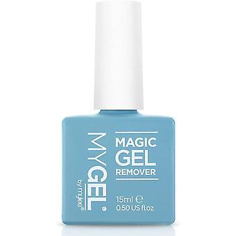 Mylee Gel Polish Removal Kit - MyGel Magic Gel Remover, Sweet Alomond Nail   Cuticle Oil, Wooden
