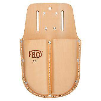 Felco 921 double side by side leather holster for secateurs with Loop and clip