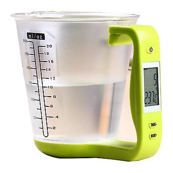 Escalas de cozinha digital béquer libra escala de ferramenta eletrônica com display LCD