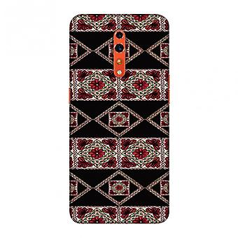 Kutch Embroidery - Deco Patterns - Red And Black Slim Hard Shell Case